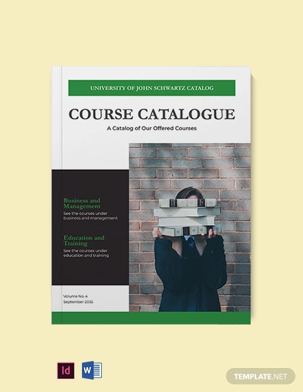 Modern Course Catalog Template