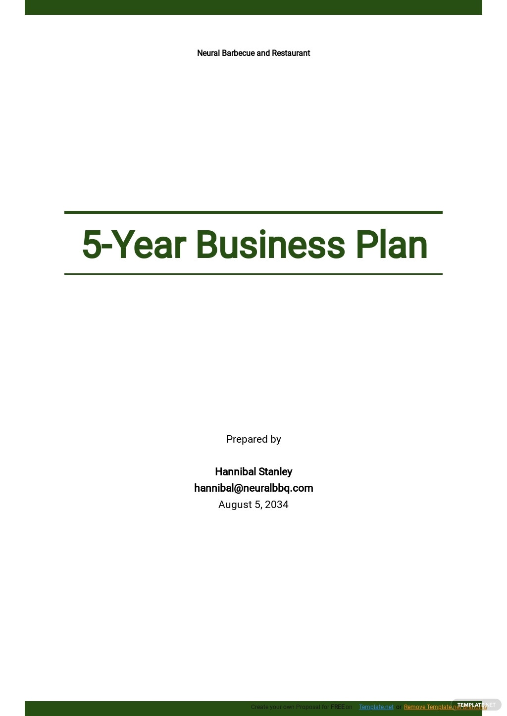 Sample 5 Year Business Plan Template.jpe