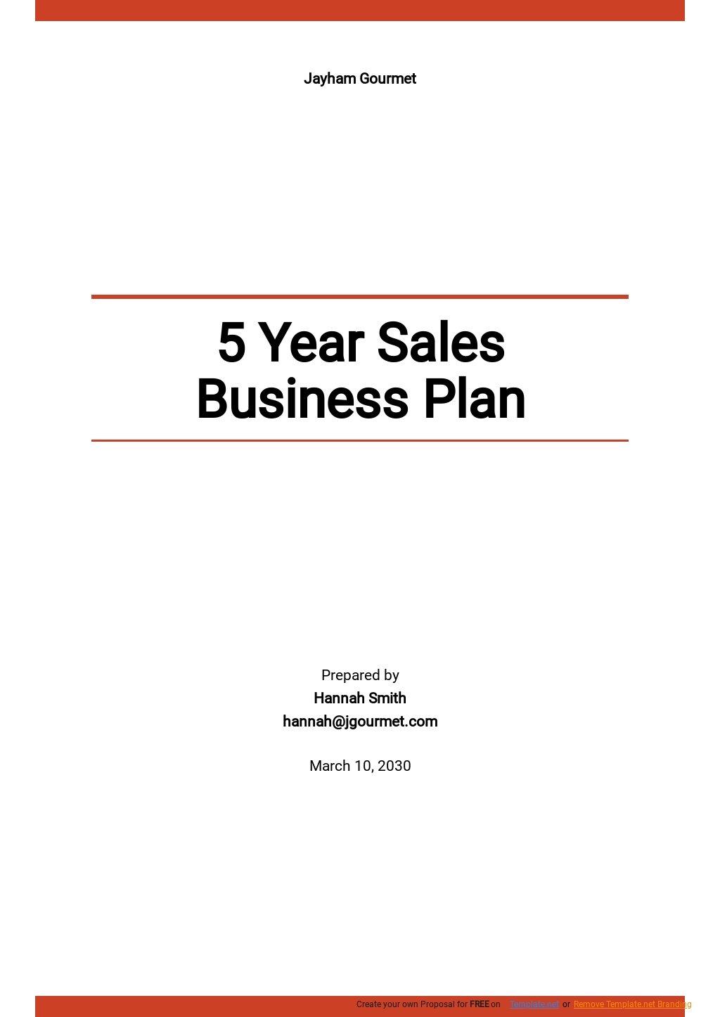 5 Year Sales Business Plan Template.jpe