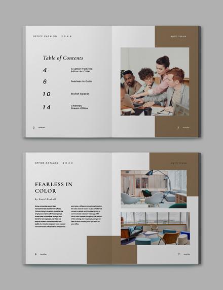 Sample Simple Office Catalog Template