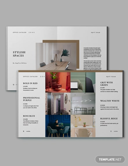 Simple Office Catalog Template Format