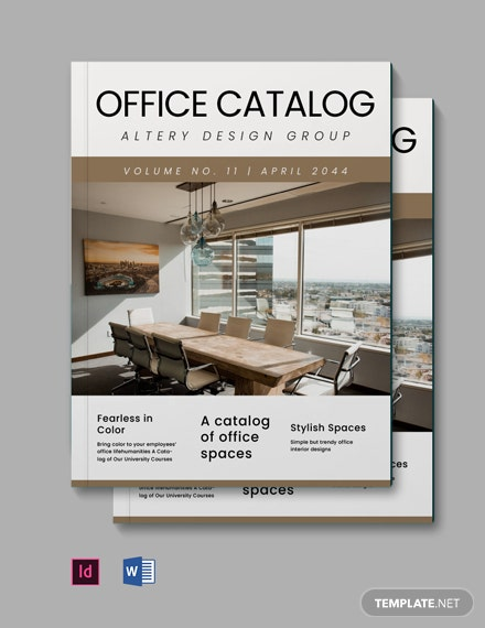 Simple Office Catalog Template
