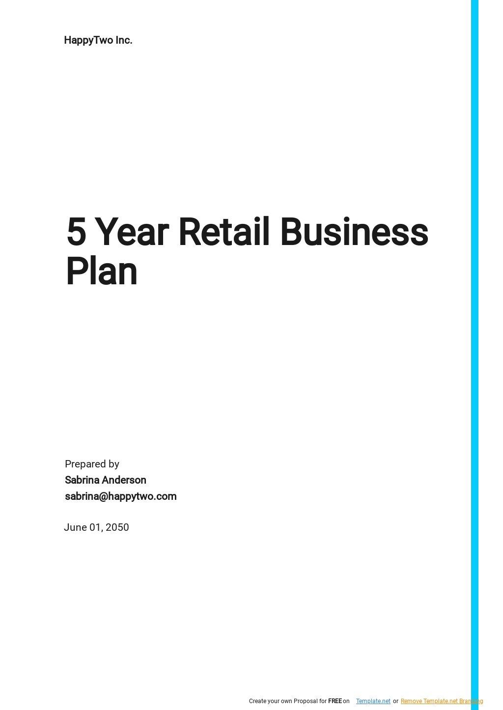 5 year Retail Business Plan Template.jpe