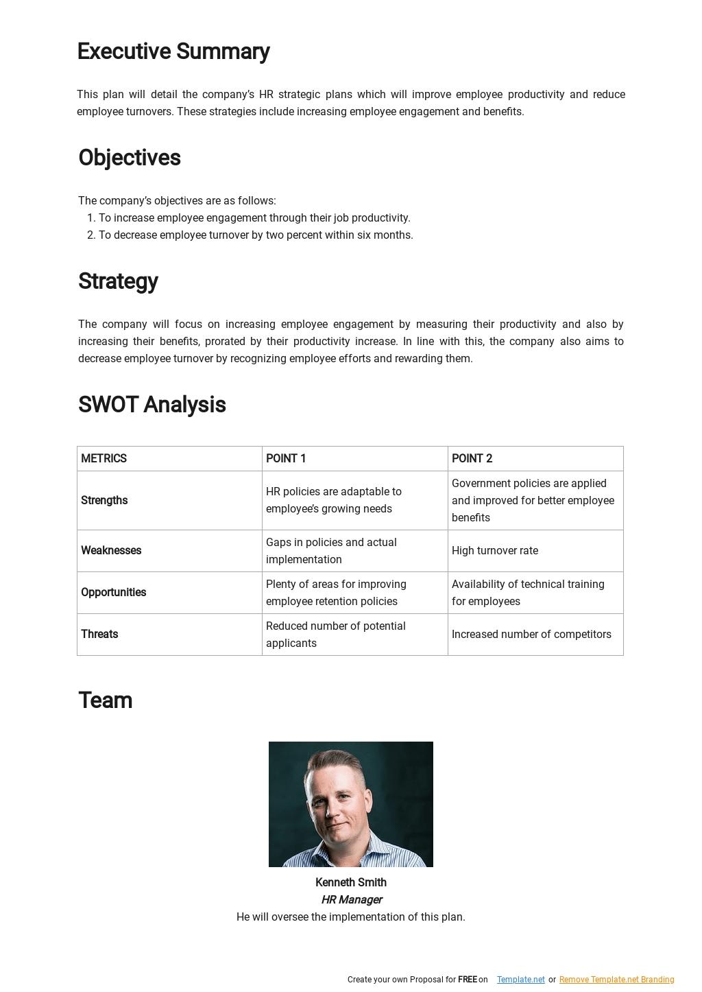 HR Strategic Plan Template for Retail Business  1.jpe
