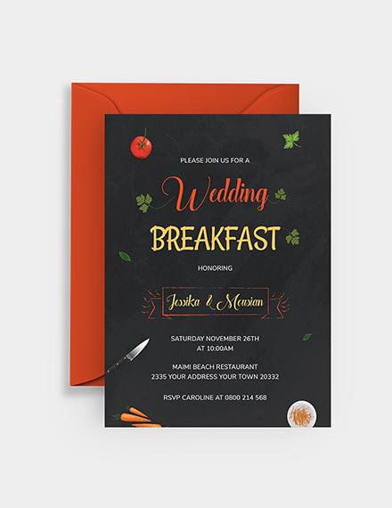 Sample Wedding Breakfast Invitation