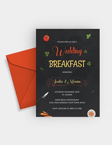 Wedding Breakfast Invitation Download