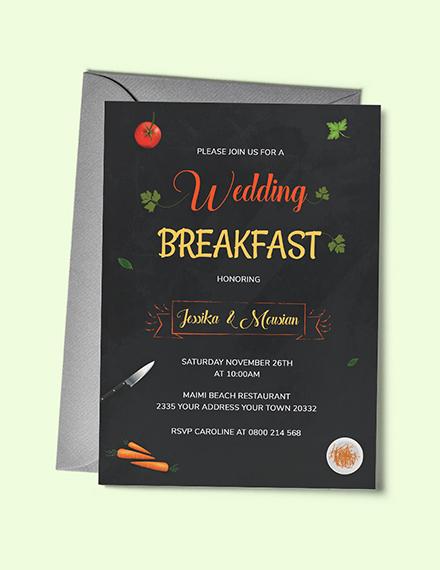 wedding breakfast invitation template 1x