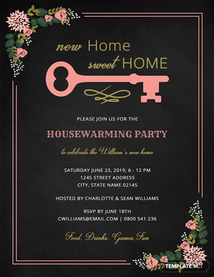 It's just an image of Free Printable Housewarming Invitations regarding house blessing