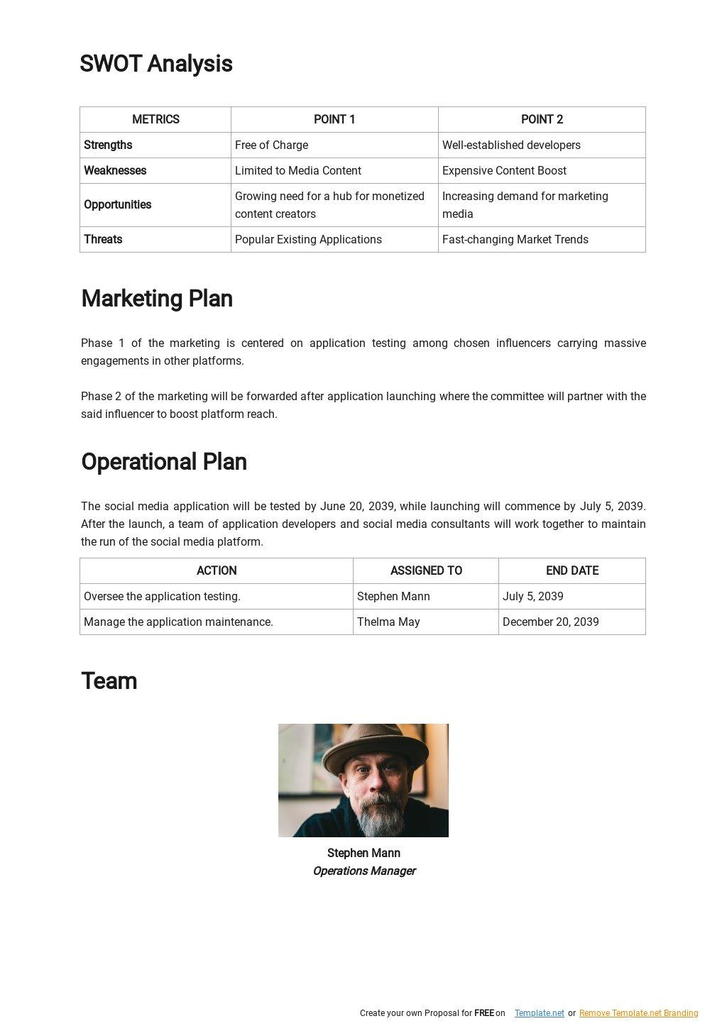 Social Media App Business Plan Template 2.jpe