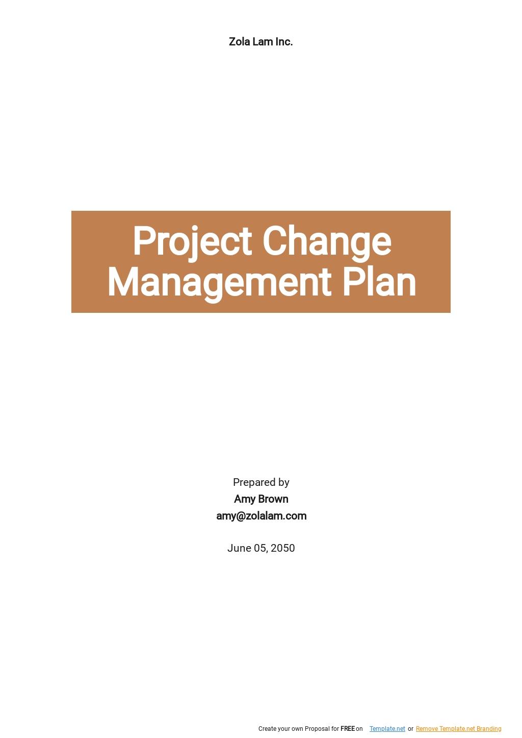 Simple Project Change Management Plan Template.jpe