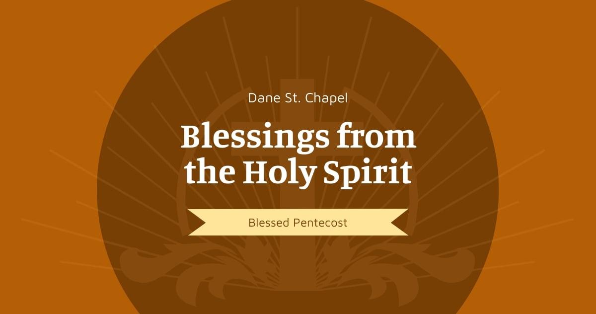 Pentecost Sunday Church Facebook Post Template.jpe