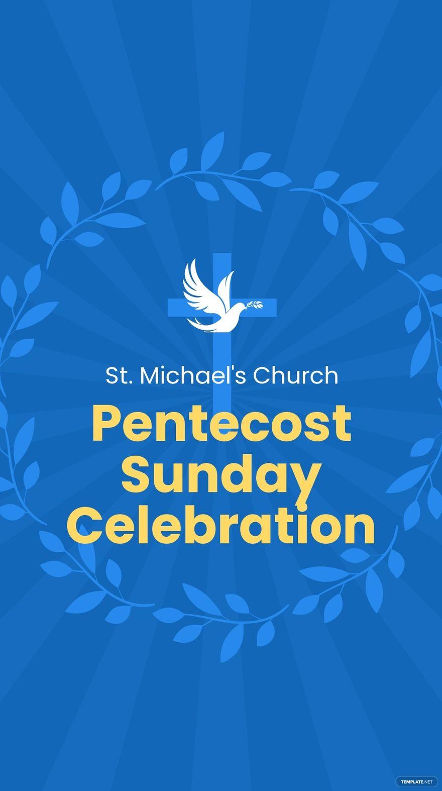 Pentecost Sunday Event Whatsapp Post Template.jpe