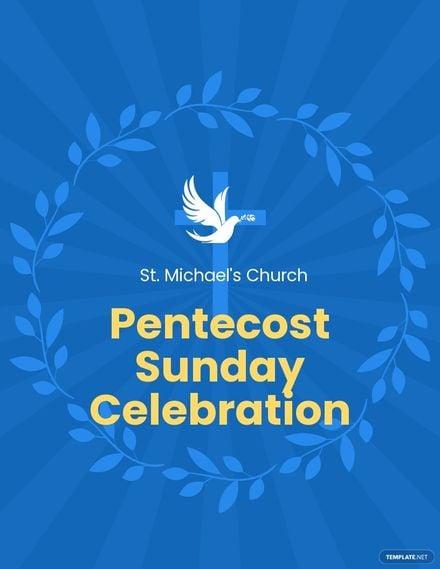 Pentecost Sunday Event Flyer Template.jpe