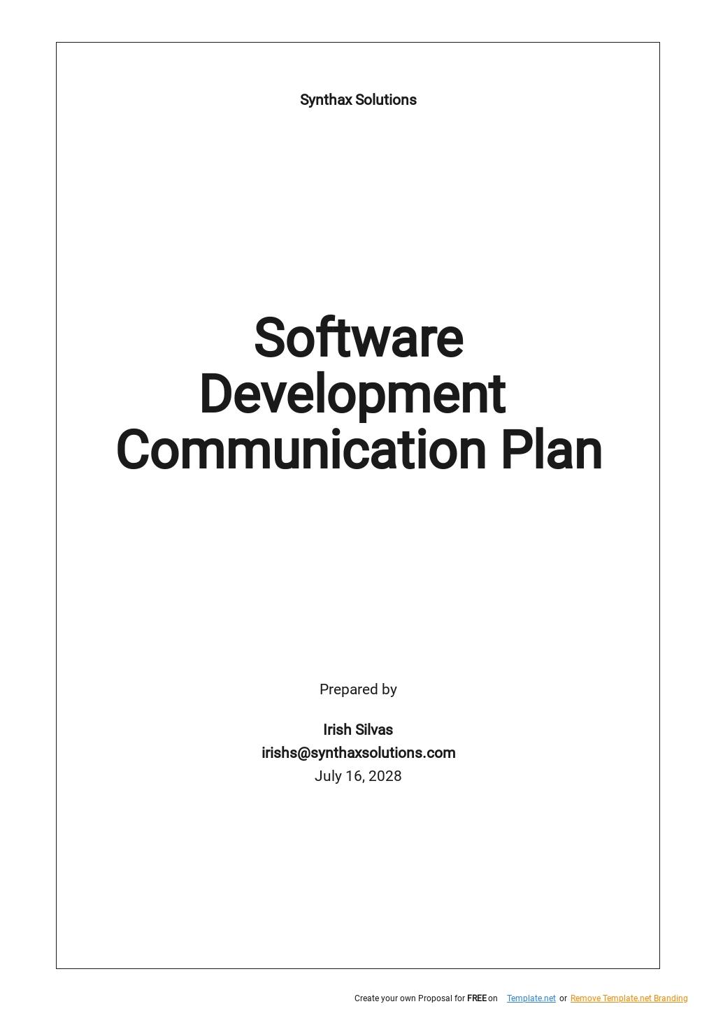 Software Development Communication Plan Template.jpe