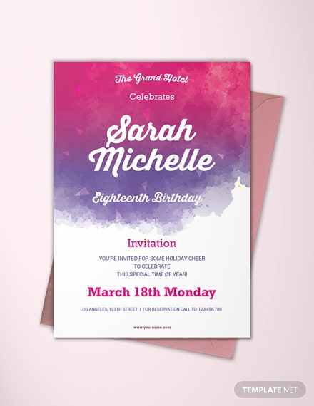free sample debut invitation card template  download 518  invitations in psd  indesign  word