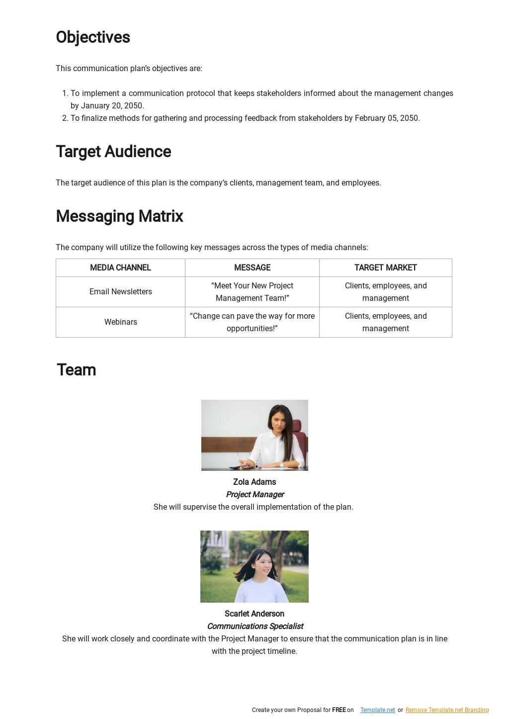 Change Management Communication Plan Template 1.jpe