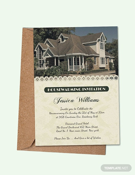 Free Welcoming Housewarming Invitation Card Template