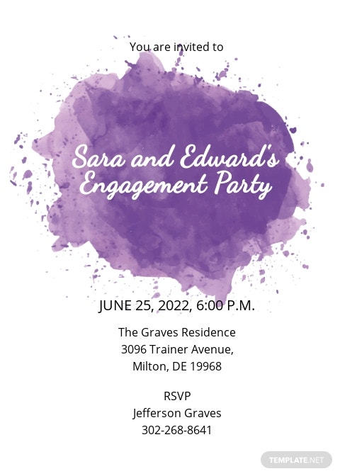 Vintage Engagement Invitation Template