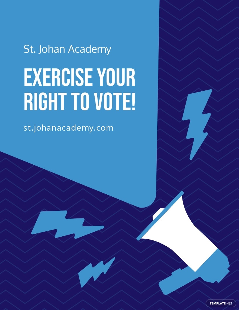 School Election Campaign Flyer Template.jpe