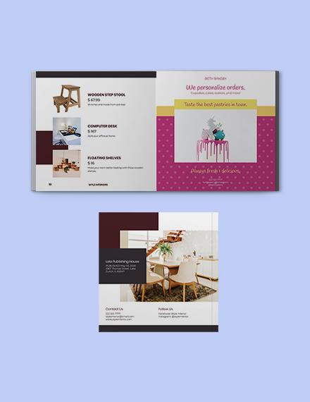 Square Interior Catalogue template Download