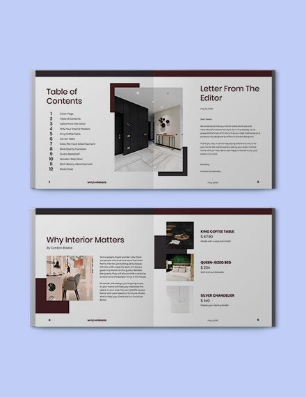 Square Interior Catalogue template Format