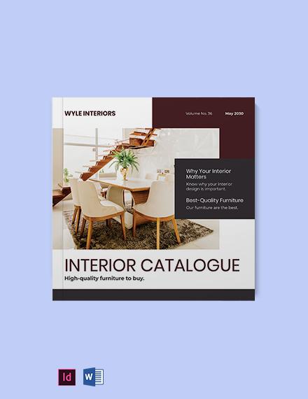 Square Interior Catalogue template