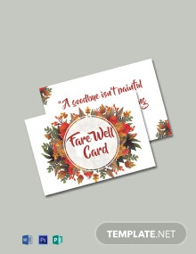 Free Goodbye Farewell Invitation Card Template