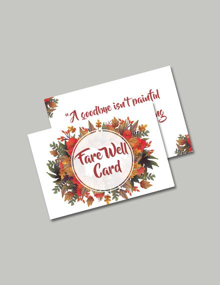 Free Goodbye Farewell Invitation Card Template