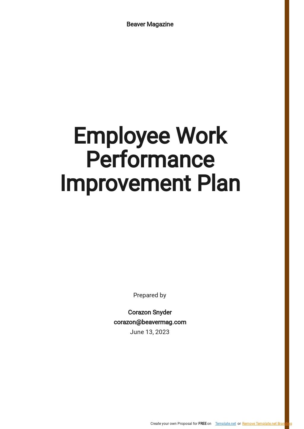 Employee Work Performance Improvement Plan Template.jpe