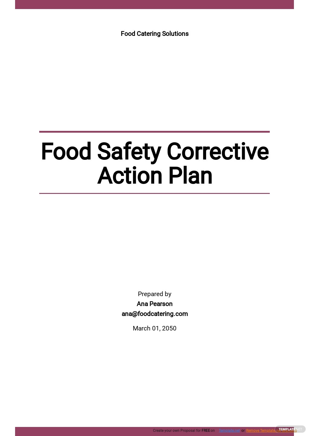 Food Safety Corrective Action Plan Template .jpe