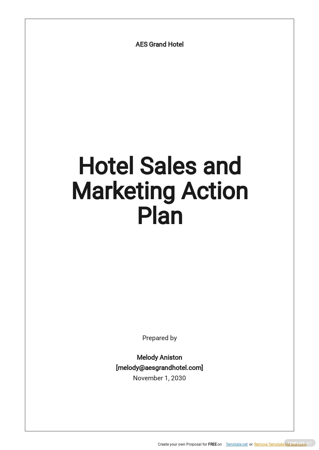 Hotel Sales and Marketing Action Plan Template.jpe