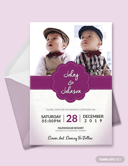 Free Grand Baby Name Ceremony Invitation Template