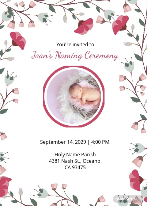 Happiest Naming Ceremony Invitation Template