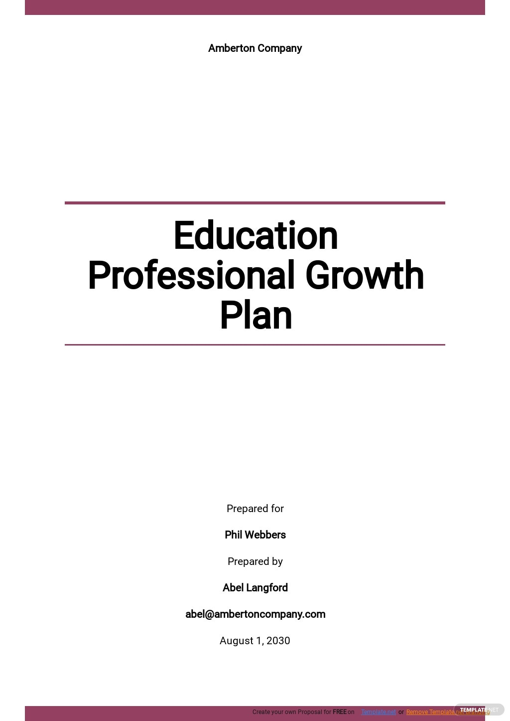 Education Professional Growth Plan Template.jpe