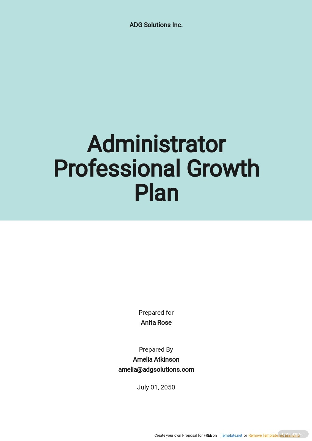 Administrator Professional Growth Plan Template.jpe