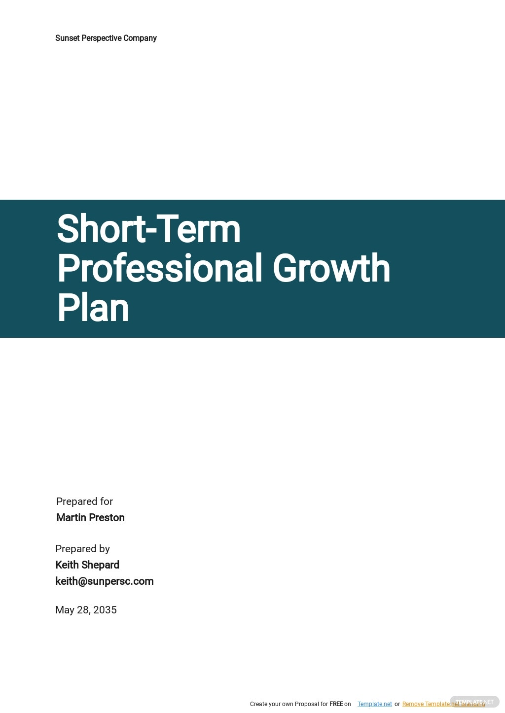 Short Term Professional Growth Plan Template.jpe