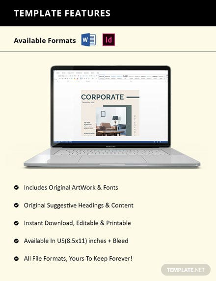 Elegant Corporate Catalog Template Guide