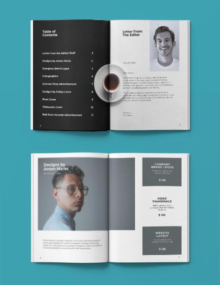 Editable Minimalistic Portfolio Catalog