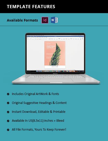 Minimalistic Portfolio Catalog Instruction