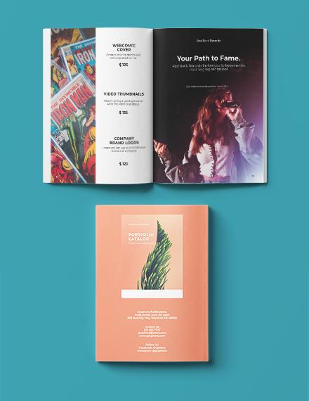 Printable Minimalistic Portfolio Catalog