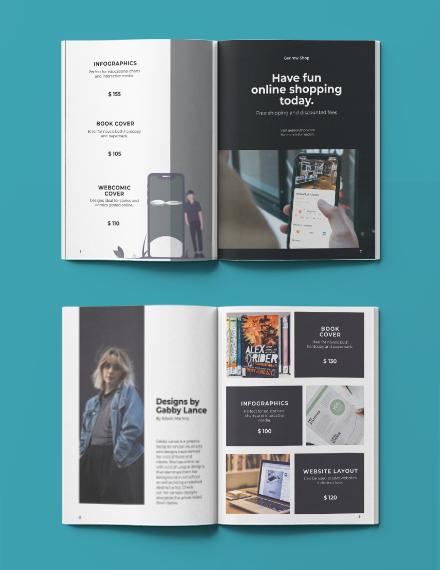 Sample Minimalistic Portfolio Catalog