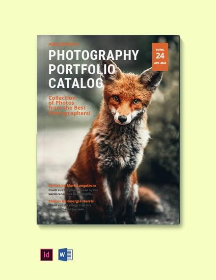 Creative Photography Portfolio Catalog template