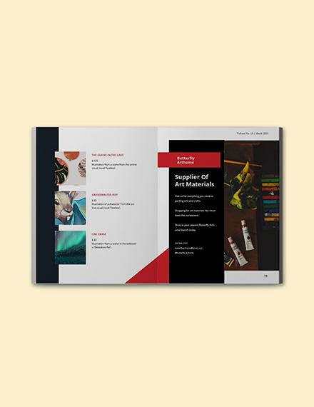 Creative Portfolio Catalog template Download