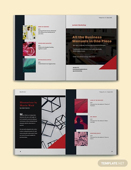 Creative Portfolio Catalog template Editable