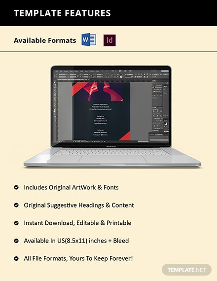 Creative Portfolio Catalog template Format