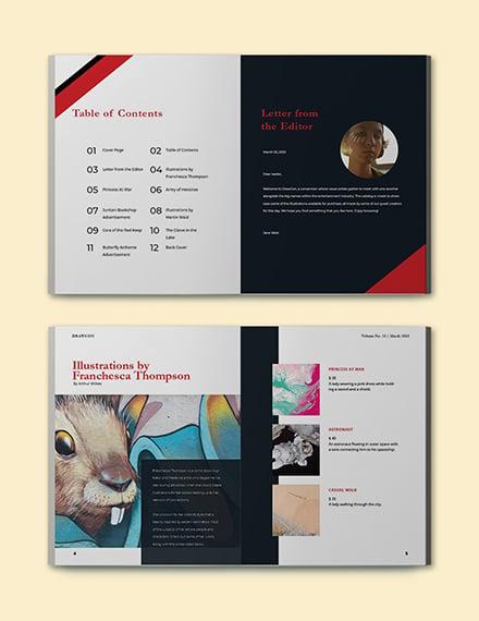 Creative Portfolio Catalog template Printable