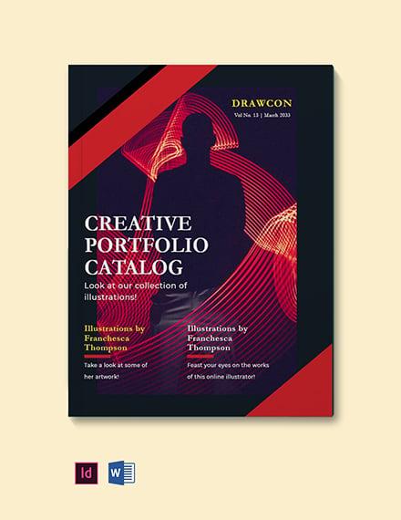 Creative Portfolio Catalog template