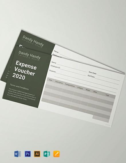 Free Expense Voucher Template