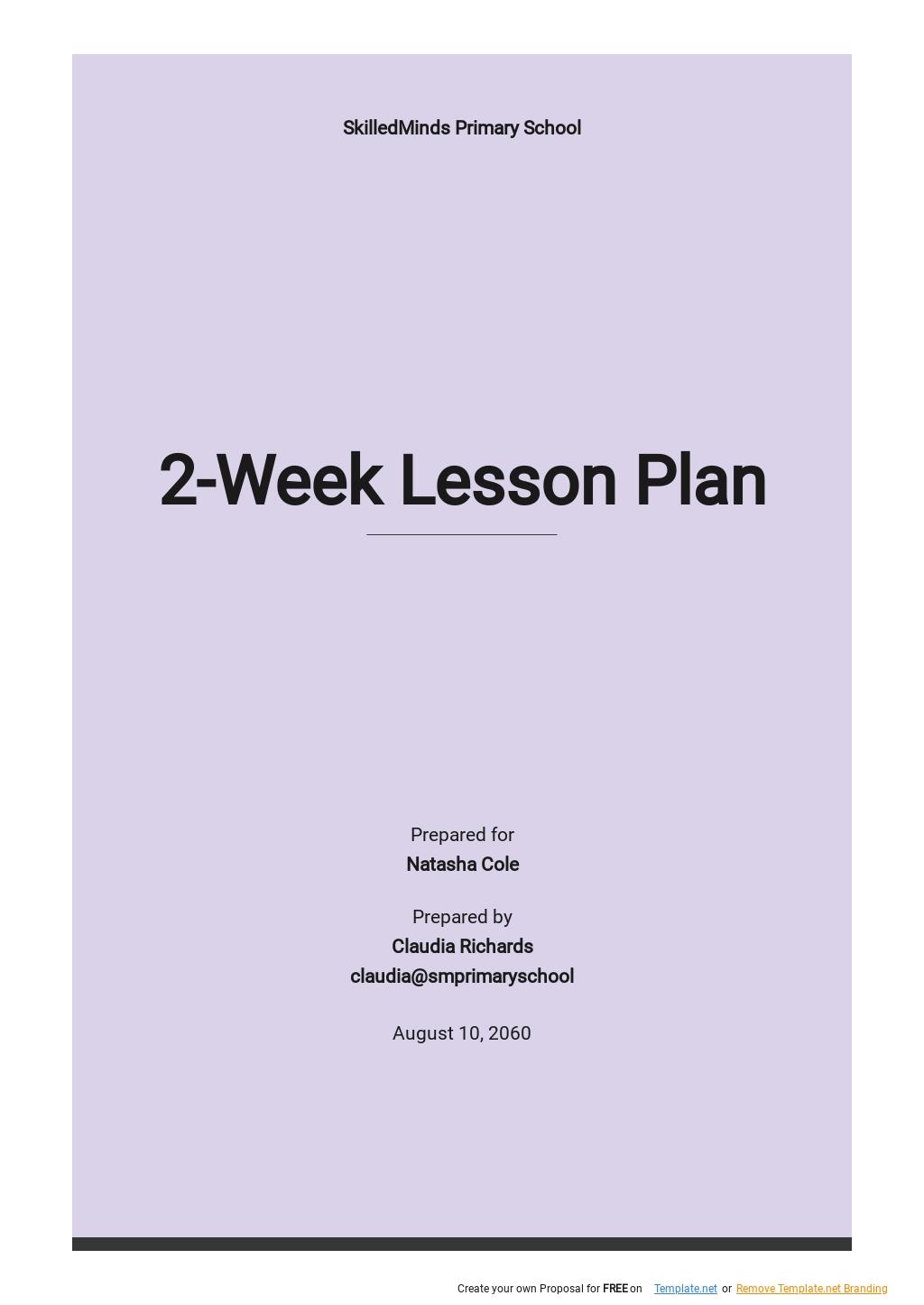 Blank 2 Week Lesson Plan Template .jpe