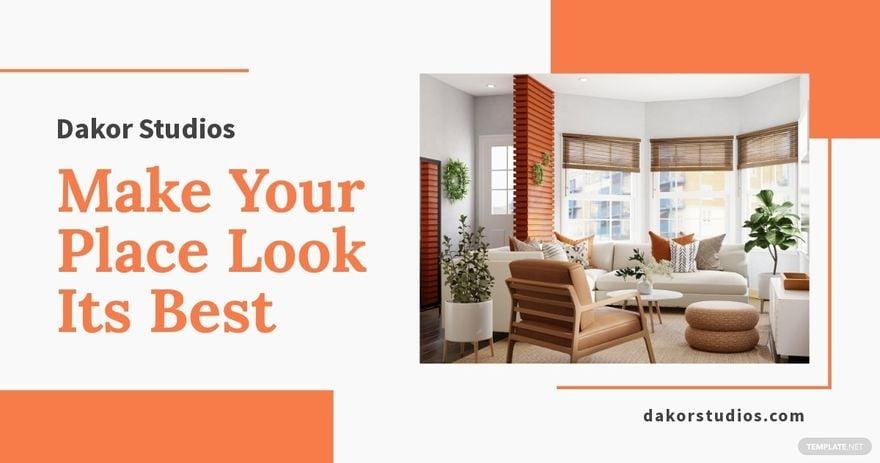 Interior Design Promotion Facebook Post Template.jpe